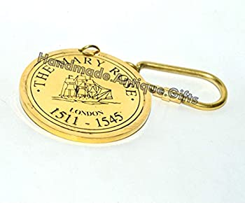 Vintage Brass Keychain Key Ring 100 Years Calendar Brass Gift 1