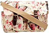 SwankySwans Girls Maple Butterfly Print Satchel Off White SS01056
