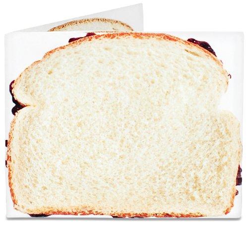 MyPartyShirt, Herren-Geldbörse braun Pbj Sandwich onesize - Mikrofaser-wallet-karte