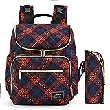 LOKASS Pañal del bebé bolsa Srotek mochila del bolso del panal del bolso de gran capacidad resistente al agua con la mochila con aislamiento de múltiples funciones incluyen el cambio del cojín / aislada para el tubo (Rojo)