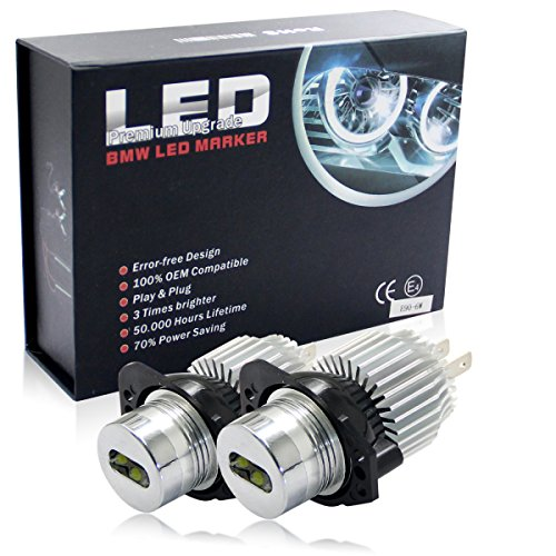 Win Power LED Scheinwerfer 6W Angel Eyes Standlicht Ring 6000K Weiß Test