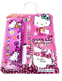 #8: DFS Simple STATIONERY SET - HELLO KITTY (With Pencil Box, Pencils, Eraser, Sharpener, Ruler, Notebook ...)