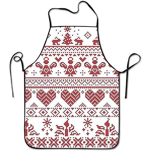 Custom Kostüm Fit Hunde - ouyjian Waterproof Apron Nordic Christmas Seamless Deluxe Cute Aprons Chef Kitchen Cooking and Men & Women Baking Bib BBQ Apron