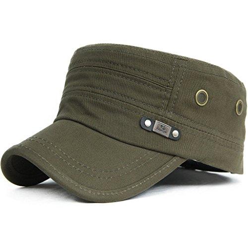 litary Flat Cap Vintage Cotton Baseballmütze Kappe, 009Oliv, Einheitsgröße ()