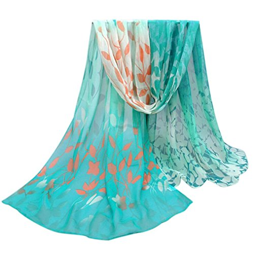 Koly Women's Lady Soft Elegant Shawl Scarf Scarves Wrap Stole+ 1 pair earings
