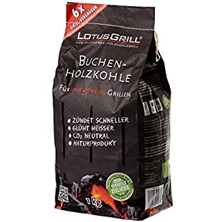 LotusGrill LK-1000 – Bolsa carbón de Haya, 1 kg