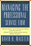 International expert and consultant David Maister offers a brilliant and accessible guide to every management issue at play in professional firms.Professional firms differ from other business enterprises in two distinct ways: first, they provide high...