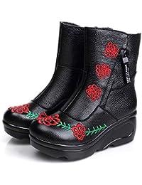 Amazon Zapatos Flores Botas Eur Mujer es 100 Para 50 6vqSpB6