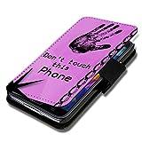 Book Style Flip Handy Tasche Case Schutz Hülle Schale Motiv Etui für HTC Desire 500 - A42 Design12