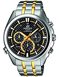Casio Herren-Armbanduhr XL Edifice Analog Quarz Edelstahl EFR-537SG-1AVEF
