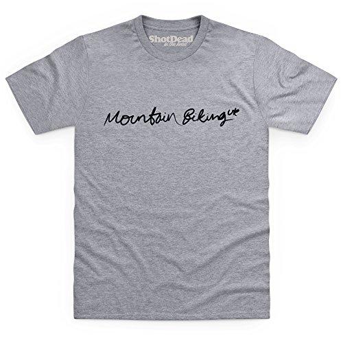 Mountain Biking UK T-Shirt, Herren Grau Meliert