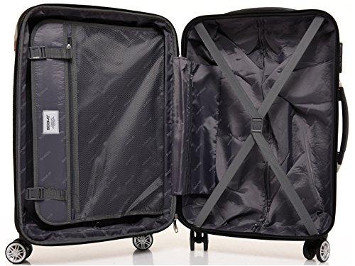 BEIBYE Zwillingsrollen 2048 Hartschale Trolley Koffer Reisekoffer in M-L-XL-Set in 17 Farben (Dunkelblau, SET) - 7
