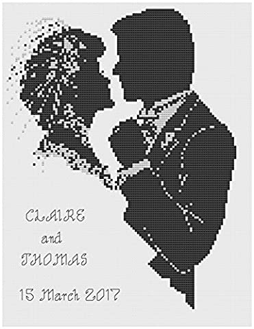Silhouette Wedding Sampler Cross Stitch Kit