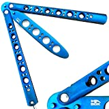 Bokhammer Blau Blue Butterfly Balisong Trainer Übung Messer