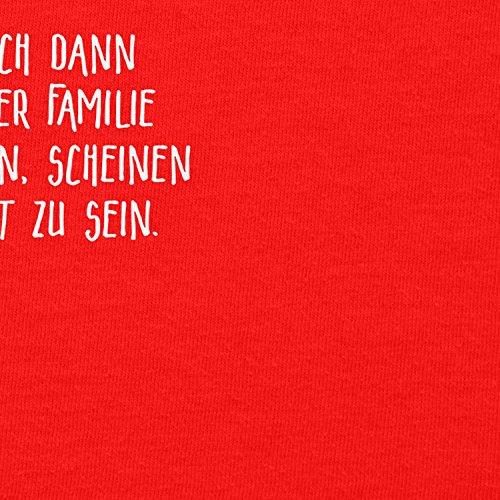TEXLAB - Meine Familie scheint nett zu sein - Herren T-Shirt Rot