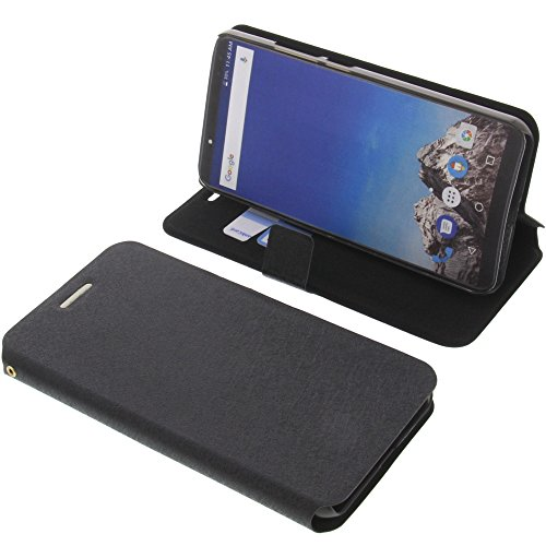 foto-kontor Tasche für Vernee X Book Style schwarz Kreditkarte Schutz Hülle Buch