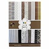 #9: KABEER ART W&M (Brown), Size A5, Craft paper - 20 Designs,40 Sheets