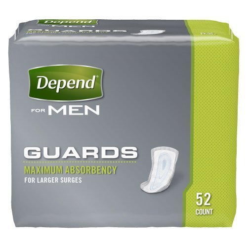 Depend Guards for Men Convenience Pack Maximum Absorbency, 52-Count by Depend (English Manual)