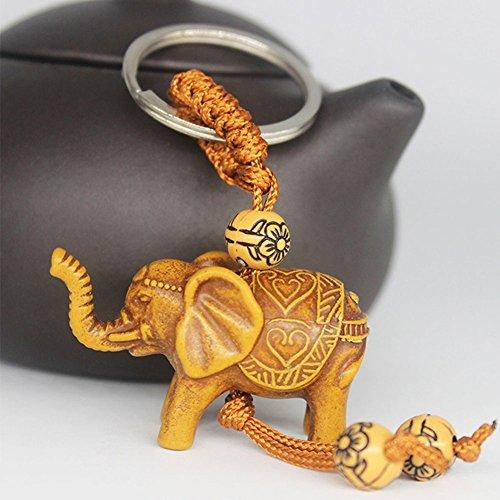 Mflbefulmel - Llavero Colgante Elefante Tallado Suerte