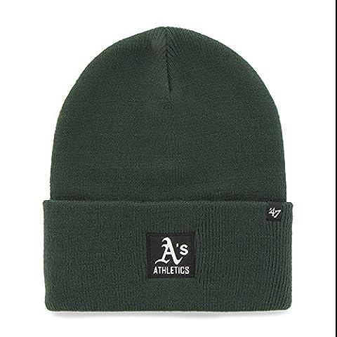 ´47 Cap MLB Oakland Athletics Portbury, Dark Green, OSFA, B-PRTBY18ACE-DG (Baseball Screen Print Cap)