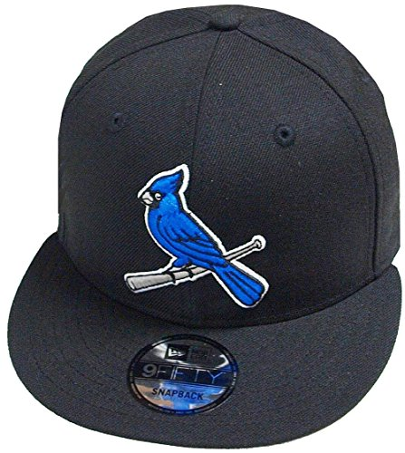 best service 3aa8b 646fb A NEW ERA Era St. Louis Cardinals Black Blue MLB Cooperstown Snapback Cap  9fifty Limited