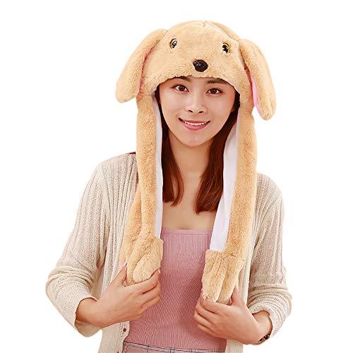y Ohren Stirnband Kaninchen Ohren Hut-Kappe mit Beweglichen Ohren Tier Ostern Verkleidung Tiermütze Kostüm Plüschtiere (Brown Puppy) ()