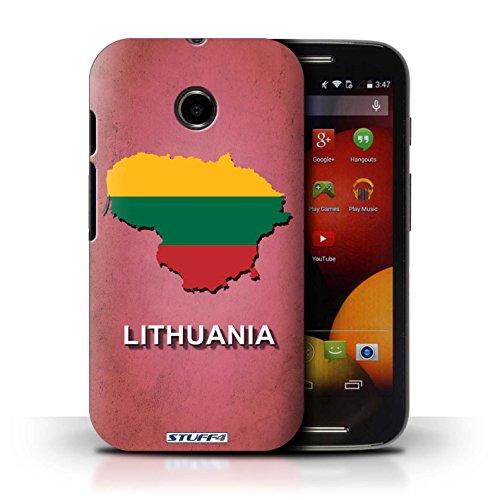 Kobalt® Imprimé Etui / Coque pour Motorola Moto E (2014) / Suède/Suédois conception / Série Drapeau Pays Lituanie/Lituanien