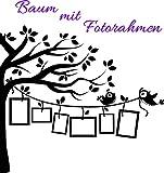 Wandtattoo-Wandaufkleber *** Baum mit Fotorahmen & Vögelchen*** Größe,Farbe und Ausrichtung wählbar!