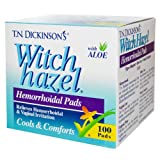 Dickinson's Brand Witch Hazel Hemorrhoidal Pads 100 Count