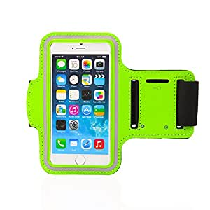Gearonic Premium Full Running Jogging Sports Gym Armband Case Holder for Apple iPhone 6 - Non-Retail Packaging - Green