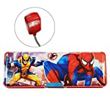 Spiderman LED Lamp Plastic Pencil Box (Red)