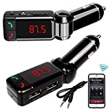 #6: Kozdiko 3 In1 Dual Usb Wireless In-Car Fm Transmitter For Car, Bluetooth Hands Free Kit And Usb Car Charger, Mp3 Player For Iphone, Andriod & Tablet Pc For Volkswagen Vento
