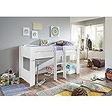 Relita Halbhohes Kinderbett in weiß ● inkl. Leiter ● Spielbett mit 90x200cm Liegefläche - 2