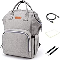 3accce1f95445 JJTKJ Diaper Bag Backpack Multi-Function Waterproof Travel Nappy Bags for  Travel with Baby Large