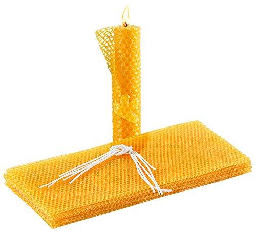 Your Design Bienenwachsplatten: 6 Bienenwachs-Platten 300 x 133 mm zum Kerzen gestalten...