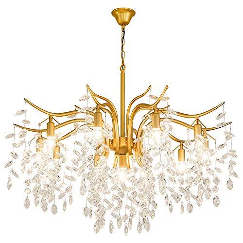 Kristall-blumen-kronleuchter (Hohe Qualität Moderne einfache led blume 8 lichtquelle gold kristall + eisen schlafzimmer wohnzimmer restaurant studie kronleuchter/deckenleuchte/lampe)