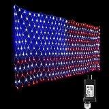 LED American Flag Net Licht Niederspannung Transformator Amerikanischen Unabhängigkeitstag Hausgarten Hochzeit Dekoration Laterne US.110v