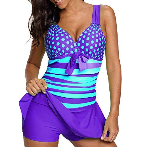 e0df722efefbe1 Riou Bademode Damen Tankinis Große Größen Sexy Push Up Bikini Sets  Zweiteilige Farbverlauf Badeanzug Strandkleidung mit Bügeln Triangel Für  Sommer Beach ...