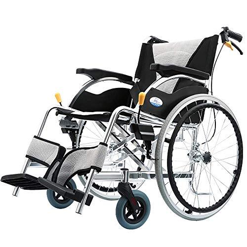 Y-L Anziani Sedia a Rotelle Portatile da Viaggio Sedia da Toilette in Lega di Alluminio per Disabili Disabili da Viaggio per Auto Portatile Trasporto Pieghevole Pieghevole Ausili per la Deambulazio
