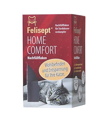 Felisept Home Comfort Nachfüllflakon - Nachfüllflakon für den Felisept Steckdosen-Verdampfer aus dem Comfort Set - Steigert Wohlbefinden und Entspannung für Katzen - 1 x 45 ml