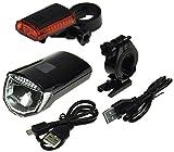 ChiliTec LED Fahrradbeleuchtung Fahrradleuchte mit Akku - StVZO zugelassen 30 Lux aufladbar