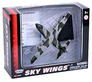 Richmond Toys 1:200 Scale Sky Wings Modern Lockheed Martin C-130 Hercules Aircraft Die-Cast Model with Authentic Details