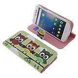 Tasche für Acer Liquid Z530 Book Style Eulen grün Schutz