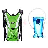 Zolimx 2L Wasser Blase Tasche Rucksack + Trinkrucksäcke Wandern Camping