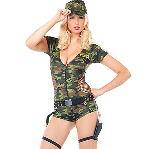 TYERY Rollenspiel - Camouflage - Soldatinnen Ausbilder Uniformen Sexy Dessous,Mehrfarbig,Einheitsgröße