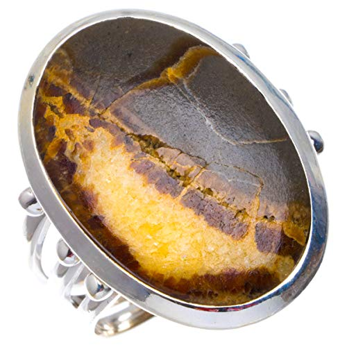925er Sterling Silber Dragon Septarian Einzigartig Handgefertigt Ringe 17 1/2 Dragon Septarian B1051