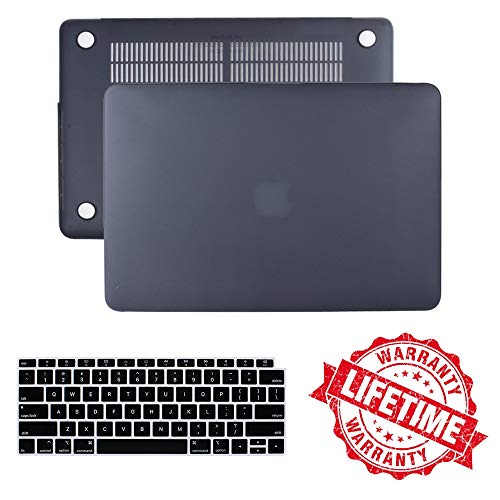 2018 Neues MacBook Air 13 Zoll Gehäuse A1932 , IC ICLOVER Mattes, gummiertes Hard Shell Cover + Tastatur Cover Nur kompatibel mit Apple MacBook Air 13.3