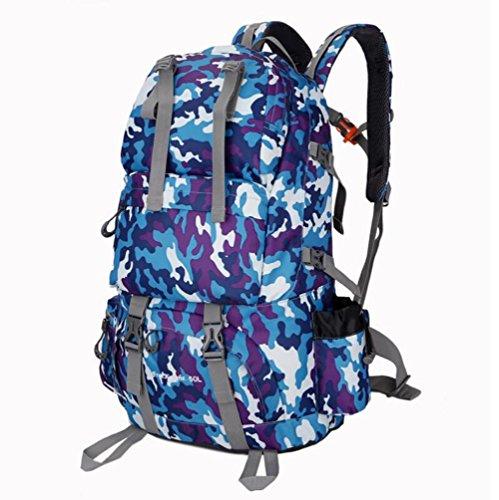 Wanderrucksack 50L Wasserdichtes Sporttasche Big Outdoor-Kapazität Taschen Bergsteigen Jagd Travel Rucksäcke 6