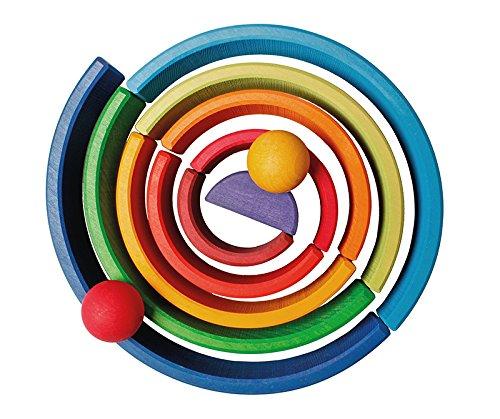 Grimm's Spiel und Holz Design Regenbogen 10 teilig, invertiert - 2