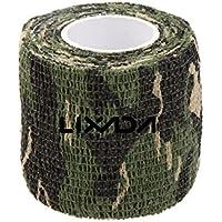 Lixada 1 Roll Outdoor Tarnband selbsthaftend 5CMx4.5M Wiederverwendbare Wrap Camouflage für Jagd Camping Radfahren